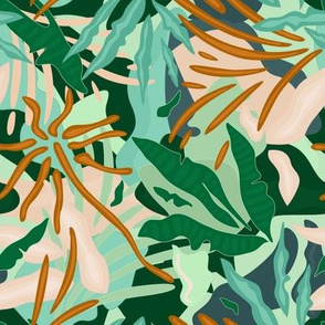 Abstract Jungle / Green Plants - Small scale