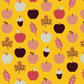 Apfelchen kleiner gelb stoff 142 cm breit 150 dpi