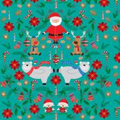 Christmas bears green