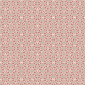 Pink geometric abstract leaf pattern