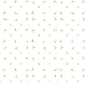dancer small white green