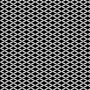 Black and white geometric abstract leaf pattern