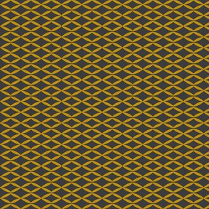 Yellow geometric abstract leaf pattern