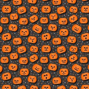happy pumpkins on dark regular size