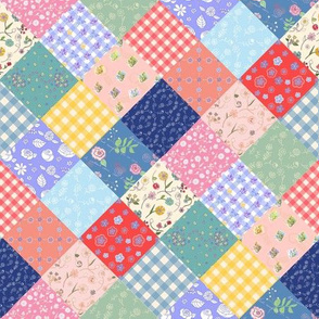 Happy Farmhouse Patchwork Diamonds