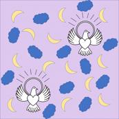 FreeBird Print Lavender Polkadots