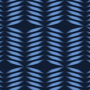 Indigo blue geometric hand drawn tie dye shibori pattern.