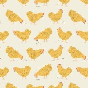 Hens on Walk, Light