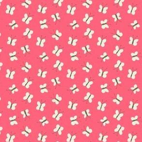 Teeny Butterflies on Pink
