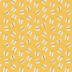 Teeny Butterflies on Yellow
