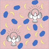 FreeBird Print Light Pink Tissue