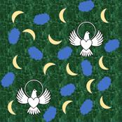 FreeBird Print Green Marble
