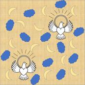 FreeBird Print On Golden Burlap