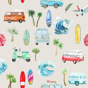 Ocean Vintage Beach // Satin Linen