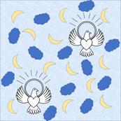 FreeBird Print Blue Tissue Texture