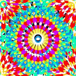 Kaleidoscope rainbow spirals2