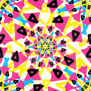 Kaleidoscope starburst yellow