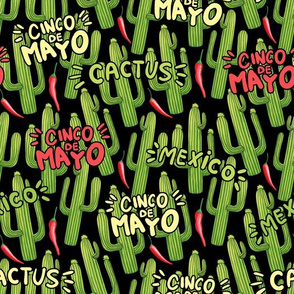 Cinco de Mayo Cacti and Hot Peppers