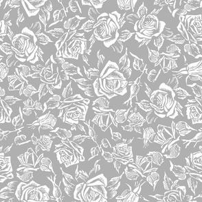 grey rose bed