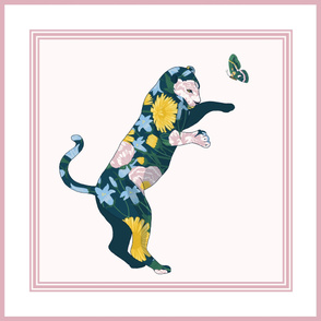 Big Cat Floral Scarf