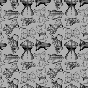 grey corsets