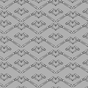 grey skeleton hearts