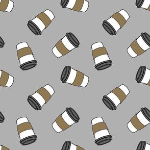 grey ditsy coffee