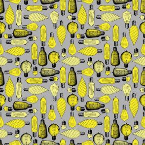 grey light bulb tile