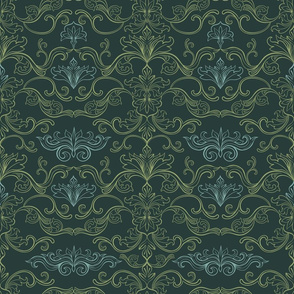 Italian damask ornaments tight
