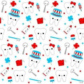 Patriotic Teeth - White