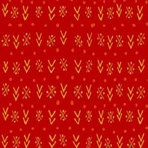Tribal Chintz - Scarlet