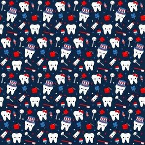 SMALL Patriotic Teeth - Blue