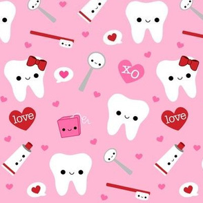 LARGE Happy Valentine's Day Teeth - Pink