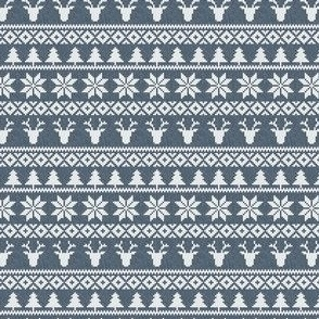 (extra small) fair isle (deer) navy || winter knits C19BS