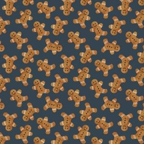 "(3/4"" scale) gingerbread man cookie toss - dark blue C19BS"