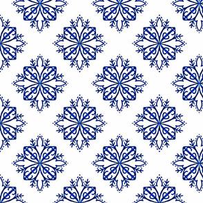 Indigo Act Fortyone / Blue Diamond Quatrefoil  -Together