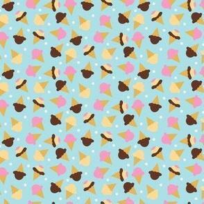 Neapolitan Ice cream cones - Small Scale