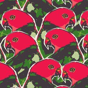 Graphic King Parrot