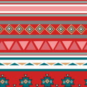 Southwestern pattern colorway red