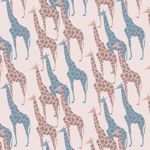 Pastel giraffes marching