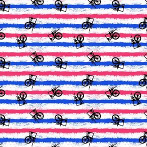 pink no blue horizontal stripe