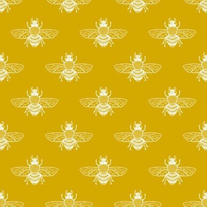 Baby Bee Gold and White