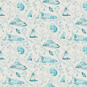 Anglesey toile (repeat design)