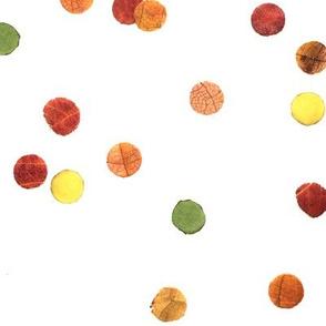 autumn confetti polka dots - large