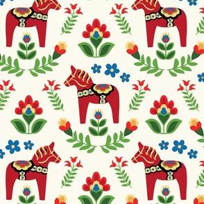 Swedish Folk Dala Horses Small