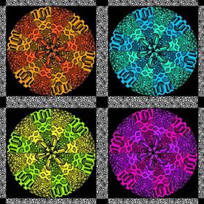 kaleidoscope quilt 18x18