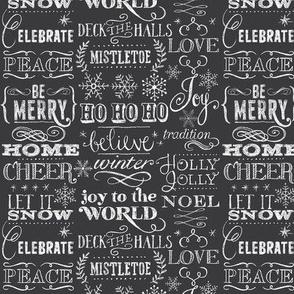 Christmas Sayings in Chalk- half size