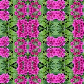 Pink Flowers Green hearts