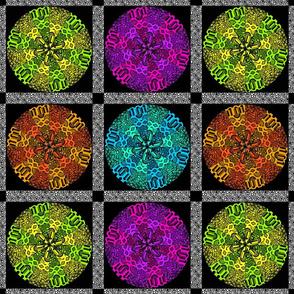 kaleidoscope quilt 12x12
