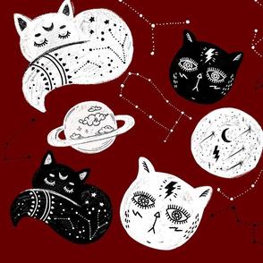 Dark Red Cat Constelation